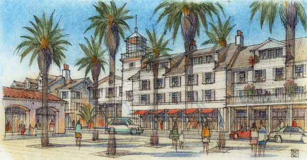 Proposed Hotel And Mixed Use Building Located Between Harbor Village Beach