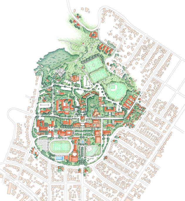 Occidental College Master Plan Moule Polyzoides