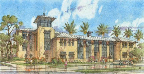Front Elevation, New College Of Florida Academic Center, Sarasota, Florida